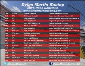 2016 DMR Schedule